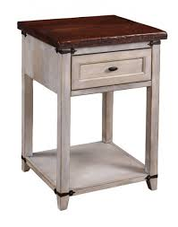 Nightstand With Shelf Farmhouse Heritage Gentleman S Chest Ohio Hardwood Furniture