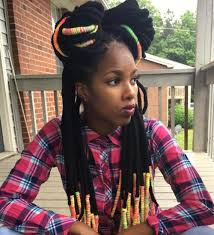 hair style with color yarn 20 playful ways to wear yarn dreads