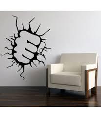 69 off on decor kafe black window wall sticker on snapdeal 69 off on decor kafe superman punch wall sticker black