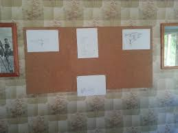 design ideas pinned on the cork board wall our green home
