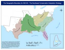 Southeastern Usa Map by About The Southeast Conservation Adaptation Strategy