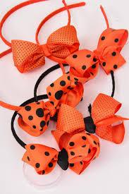 halloween grosgrain ribbon headband horseshoe halloween grosgrain polka dots bow tie dz bow