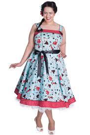hell bunny dixie 50s dress blue