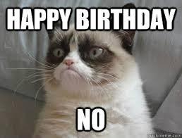 Grumpy Cat Meme Happy Birthday - grumpy cat happy birthday no lekton info