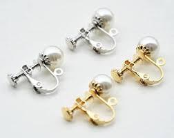 pierced earring non pierced earring etsy