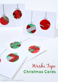 washi ornament cards