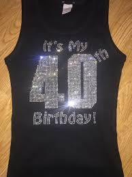 womens halloween shirt ladies 40th birthday bling shirt birthday rhinestone