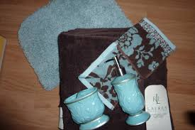 Blue And Brown Bathroom Sets Aqua And Brown Bathroom Accessories P Jpg With Stunning Idea