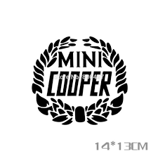 mini cooper logo newest car styling decal mini laurel flower wheat stickers for