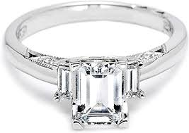 baguette ring tacori diamond baguette engagement ring 2591