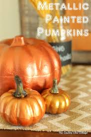 plastic pumpkins metallic painted pumpkins the country chic cottage