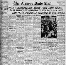 dec 17 arizona daily star front pages horror from the sky