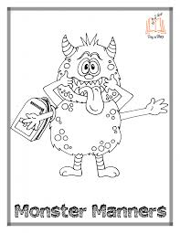 coloring download silly monster coloring pages free printable