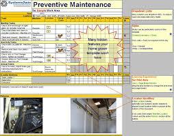 Maintenance Checklist Template Excel Preventive Maintenance Checklist Excel Template For Tpm Hvac