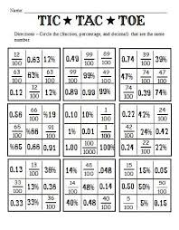 fractions decimals and percents and worksheets to go with the