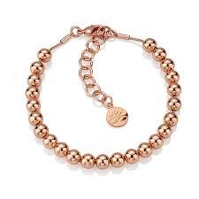 rose gold bead bracelet images Newbridge silverware rose gold plate small bead bracelet Jpg