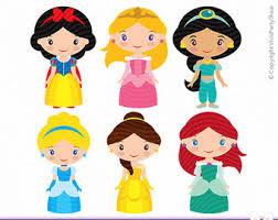 princesses clipart printable instant download png files