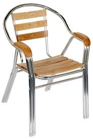 Patio Chairs Wood Aluminum U0026 Wood Double Tube Patio Chair