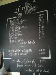 Local Urban Kitchen Menu Drinks Black Board Hand Drawn For Local Cafe Jika Jika In Bath