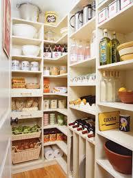 corner white wooden pantry cabinet shelf on laminate flooring plus