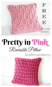 73 best crochet pillows images on pinterest crochet cushions free crochet pattern for essentials pretty in pink pillow by pattern paradise com