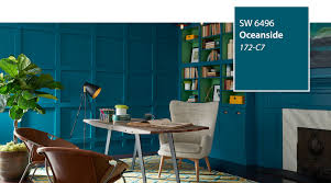 Interior Blue Introducing The 2018 Color Of The Year Oceanside Sw 6496