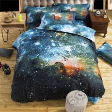 Space Bed Set Lfh Galaxy Bedding Sets 3d Printed Space Quilt Set Duvet