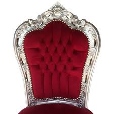 Esszimmer Polsterst Le Bequeme Stühle Barock Esszimmer Polsterstuhl Bordeoux Rot Silber