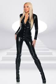 leather jumpsuit black patent leather jumpsuit penguin