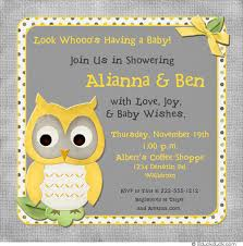 yellow and gray baby shower whoo baby shower invitation owl chic wood pink blue