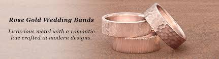 Rose Gold Wedding Rings by Men U0027s Rose Gold Wedding Bands U2013 Rose Gold Inlays