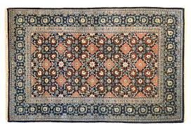 Kashan Persian Rugs by Kashan Blue And Pink Zaronim Size With Infinite Modular Design Field