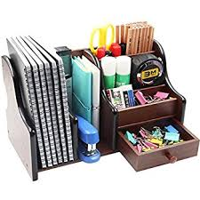 Organizer Desk Pag Office Supplies Wood Desk Organizer Book Shelf