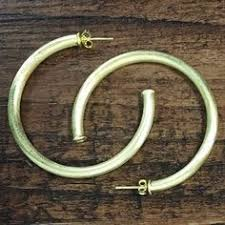 fajl hoops fajl everybody s favorite brushed gold hoops gold hoops