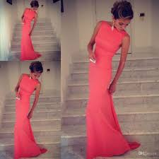 form fitting bridesmaid dresses 2017 formfitting sheath high neck formal coral evening dress