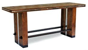 bar height table industrial standing table made from reclaimed antique wood diy industrial