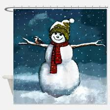 Snowman Curtains Kitchen Snowman Winter Scene Shower Curtains Snowman Winter Scene Fabric