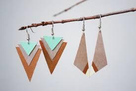 earrings diy diy wood earrings two ways the merrythought