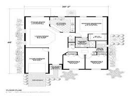 charming 3 bedroom rectangular house plans 2 3 bedroom