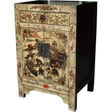 Chinese Secretary Desk by Cream Painted Bedside Table Bedside Tables Chinese Furniture