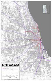 Cta Map Chicago 3 Chicago Intermodality