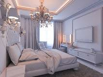D Render Of Bedroom Interior Design In A Modern Classic Style - Interior design modern classic