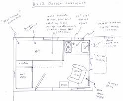 8x12 floor plan tiny house talk