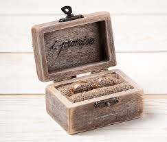 wedding rings in box ring bearer box wedding ring box rustic wedding ring holder pillow