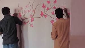 painting tree on wall youtube
