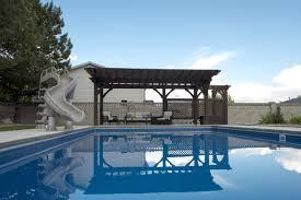 impressive poolside pergola cantilever roof trellises u0026 arbor