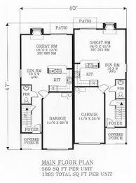 duplex plan chp 54617 at coolhouseplans com vacation homes