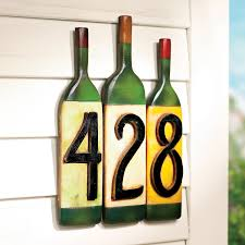 wine bottle plates wine bottle house numbers wine enthusiast