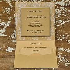 Pocket Invitations Booklet Pocket Invitation Kraft Card Booklet Invitations For Diy