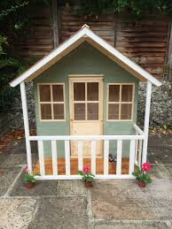 wendy house play house exterior painted in cuprinol willow